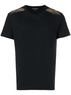 футболка с декоративными перьями Alexander McQueen