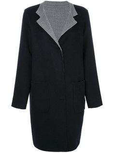 пальто с контрастными лацканами Manzoni 24