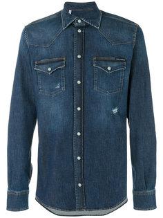 джинсовая рубашка с эффектом поношенности Western  Dolce & Gabbana