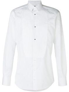 рубашка с плиссированным нагрудниокм Dolce & Gabbana