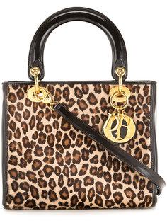 сумка-тоут с леопардовым принтом  Christian Dior Vintage