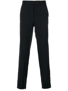 строгие брюки с молниями на манжетах Lanvin