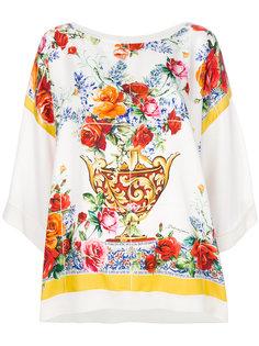 топ с принтом Maioliche Dolce & Gabbana