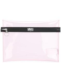 сумка на молнии с принтом логотипа Mm6 Maison Margiela