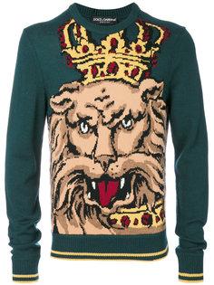 джемпер со львом Dolce & Gabbana