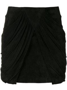 мини-юбка с драпировкой  Saint Laurent