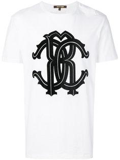 футболка с принтом логотипа Roberto Cavalli