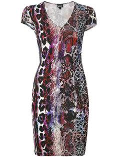 облегающее платье с рисунком Just Cavalli