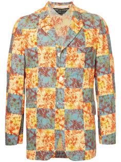 пиджак в клетку тайдай Comme Des Garçons Vintage