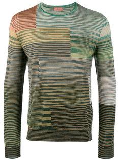 трикотажный свитер в разноцветные полоски Missoni