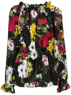 блузка с цветочным принтом Dolce & Gabbana