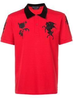 рубашка поло с вышивкой Alexander McQueen
