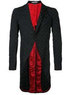 пиджак в клетку с удлиненным краем  Comme Des Garçons Vintage