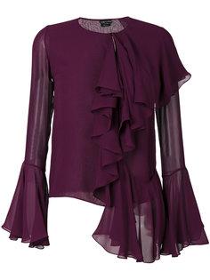 блузка с пышными воланами Tom Ford