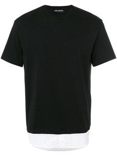 футболка с рубашечным подолом Neil Barrett