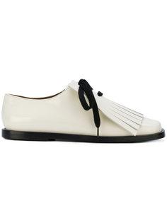 туфли на шнуровке с бахромой  Marni