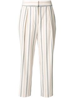 укороченные брюки в полоску See By Chloé
