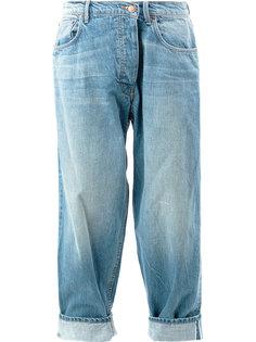 джинсы с подвернутыми манжетами Monse