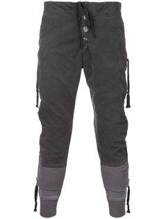 брюки с карманами на молнии Greg Lauren