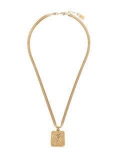 ожерелье с подвеской-логотипом  Yves Saint Laurent Vintage