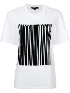 футболка с принтом штрих кода Alexander Wang
