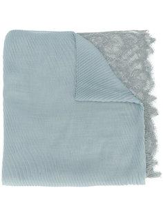 плиссированный шарф с кружевными панелями Valentino