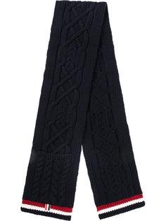 трикотажный шарф с узором Thom Browne