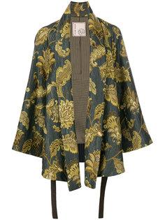 пиджак-кимоно с принтом листьев  Antonio Marras