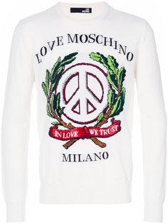embroidered sweatshirt  Love Moschino