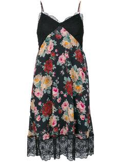 расклешенное платье с цветочным принтом Twin-Set