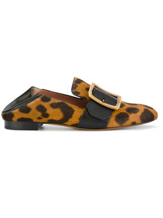 leopard print loafers  Bally