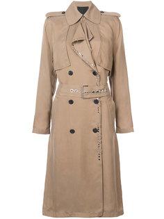 пальто с деталью в стиле пирсинга Alexander Wang