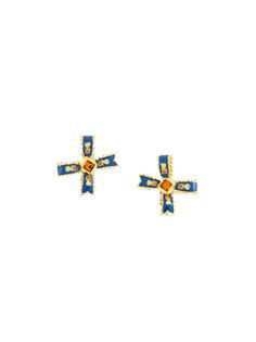 серьги с крестиками  Yves Saint Laurent Vintage