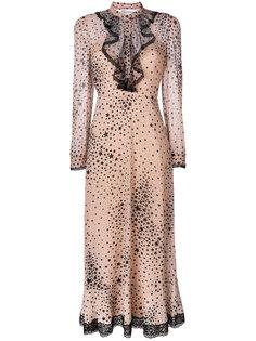 расклешенное платье со звездами  Red Valentino