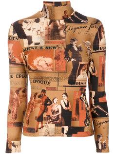 топ с высокой горловиной Belle Epoque Jean Paul Gaultier Vintage