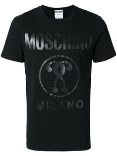 футболка с логотипом  Moschino
