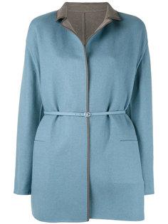 пальто с тонким поясом Loro Piana
