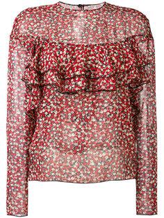 полупрозрачная блузка с цветочным узором Philosophy Di Lorenzo Serafini