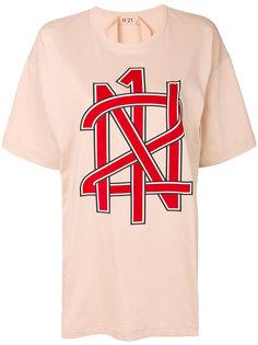 футболка-бойфренда с принтом  Nº21