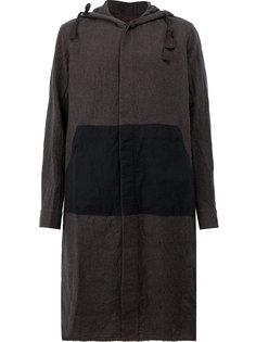 однобортное пальто с капюшоном Ziggy Chen