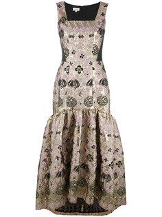 длинное жаккардовое платье Tower Temperley London