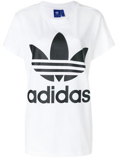 футболка с логотипом-трилистником  Adidas
