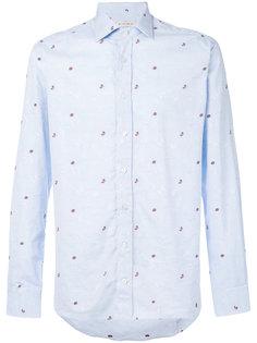 рубашка с вышивкой бабочек и стрекоз Etro