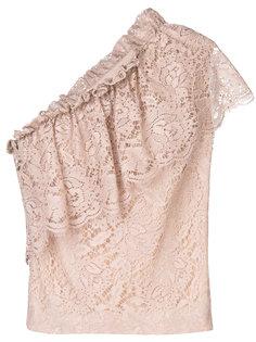 кружевная блузка с одним рукавом  MSGM