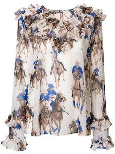 блузка с принтом в стиле поло  MSGM