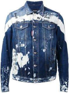 джинсовая куртка с вышивкой Dsquared2