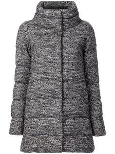 дутое твидовое пальто  Herno