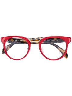 round frame glasses Prada Eyewear