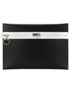 клатч с принтом логотипа Mm6 Maison Margiela
