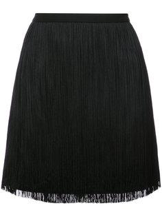 юбка мини с бахромой Saint Laurent